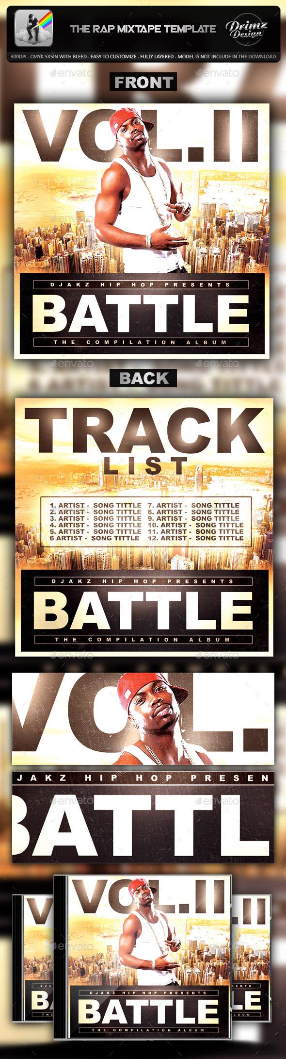 GraphicRiver The Rap Mixtape Template 9450752