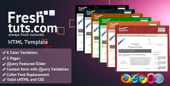 FreshTuts HTML Template - Software Technology