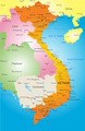 Vector color map of Vietnam - PhotoDune Item for Sale