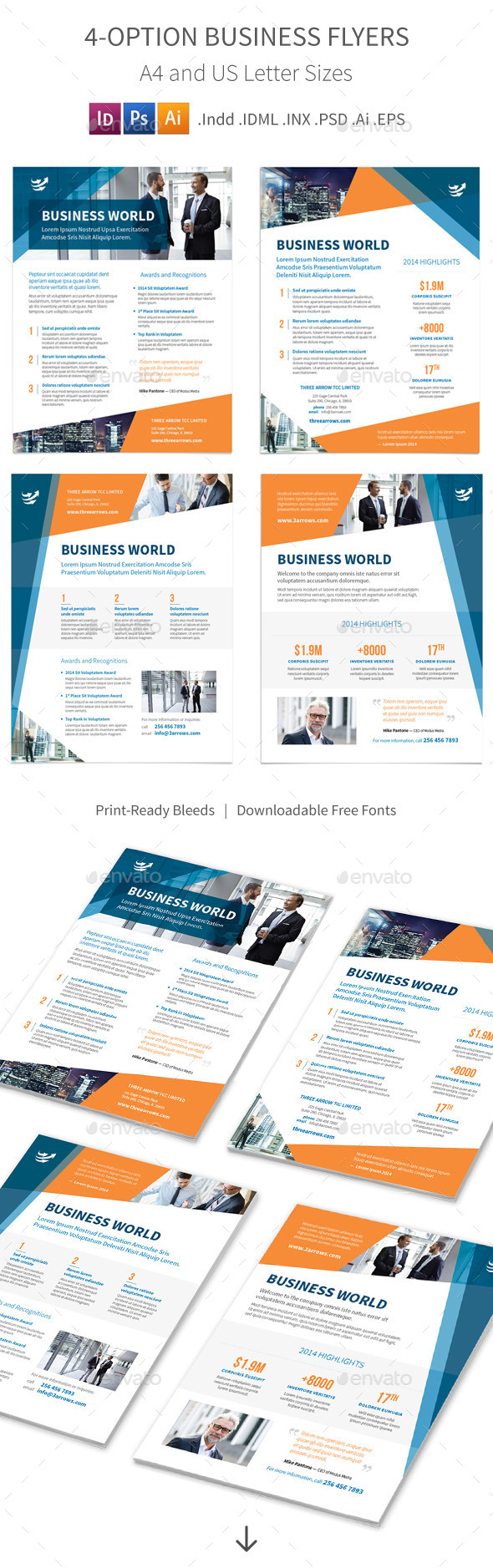 GraphicRiver Business Flyers 4 Options 9450990