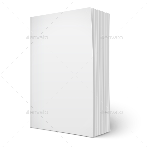 GraphicRiver Blank Vertical Softcover Book 9451008