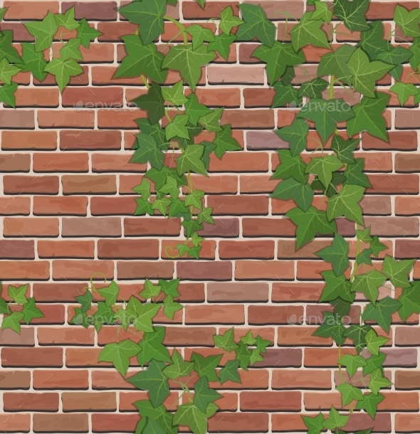 GraphicRiver Brick and Ivy Texture 9451140