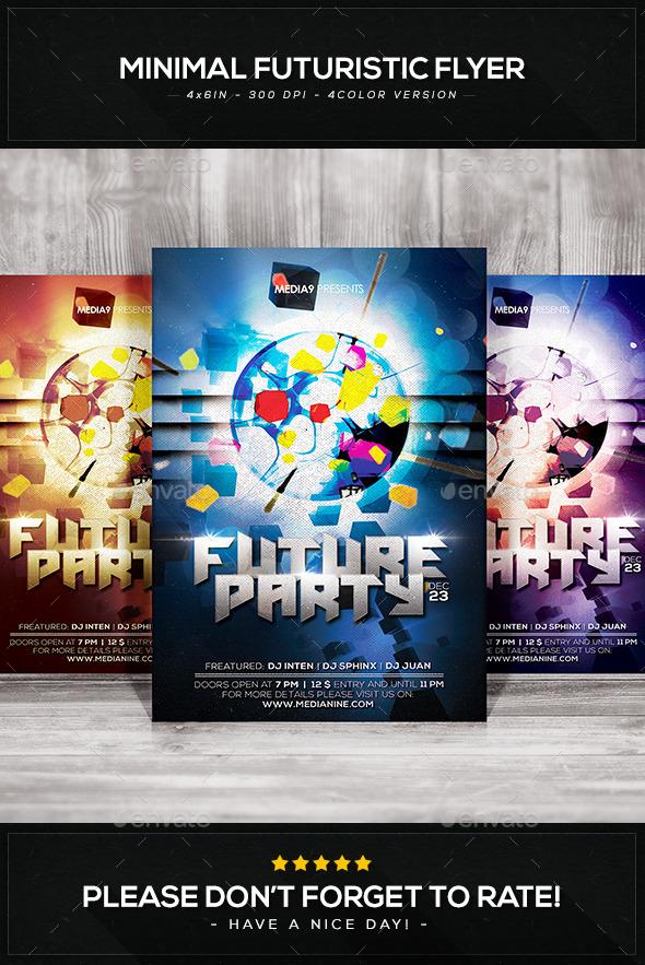 GraphicRiver Minimal Futuristic Flyer V.24 9411151