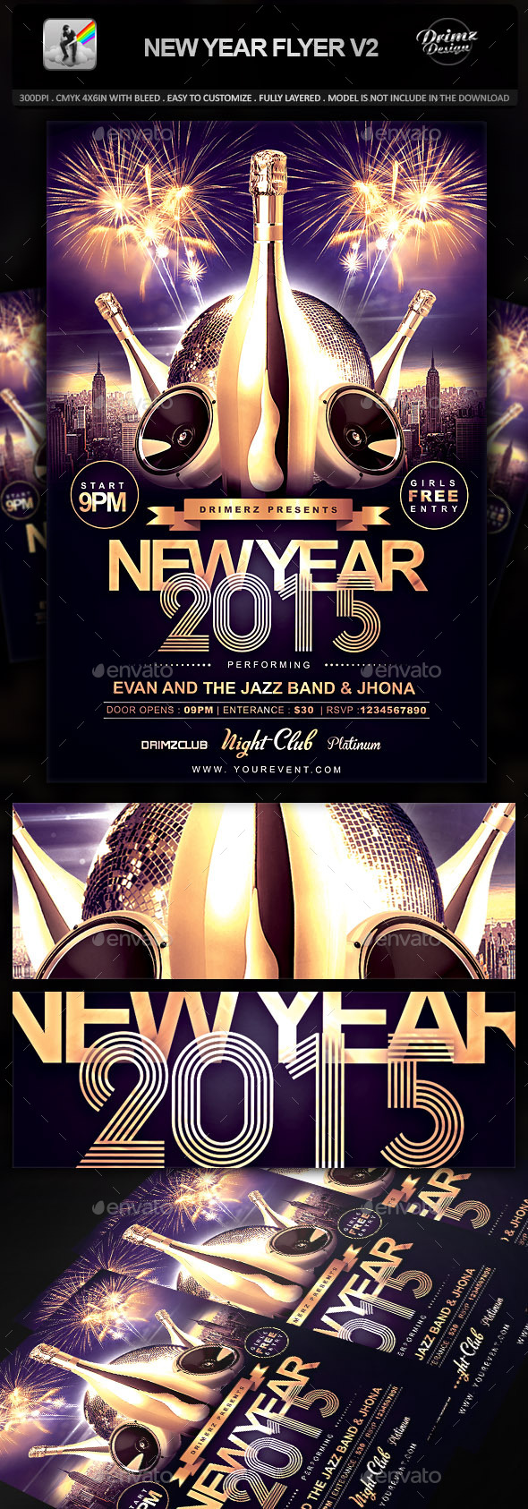 GraphicRiver New Year Flyer V2 9451352