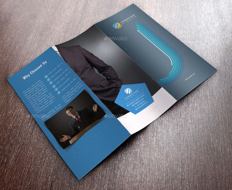 Cool tri fold brochure template design by graphicfair for Cool brochure templates
