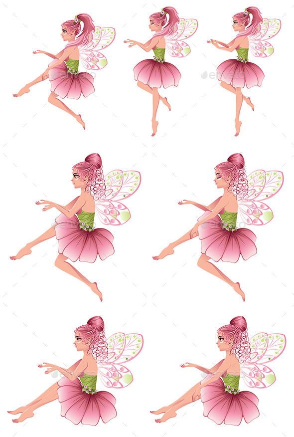 GraphicRiver Pink Floral Fairy 9451420