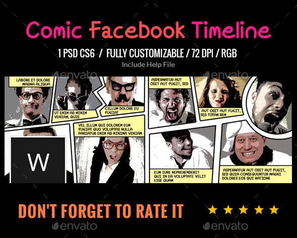 GraphicRiver Comic Book Facebook Cover 9451455