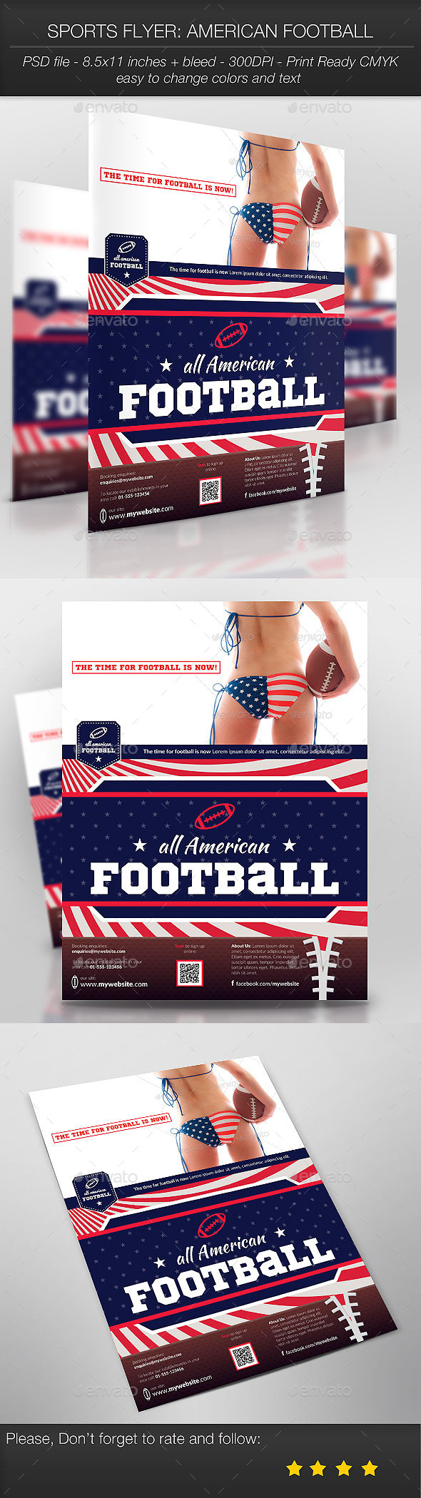 GraphicRiver Sports Flyer American Football 9451488