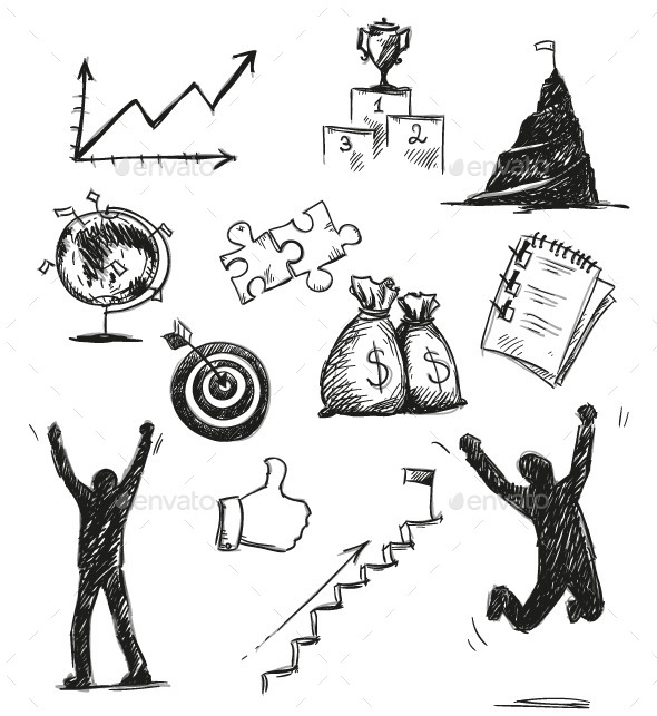 GraphicRiver Success Symbols and Icons 9451531