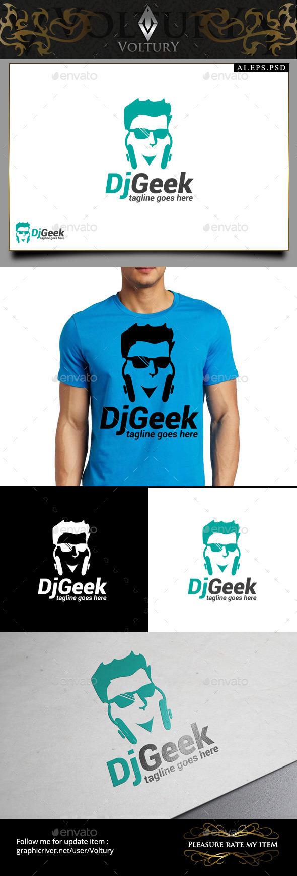 GraphicRiver DJ Geek Logo 9451536