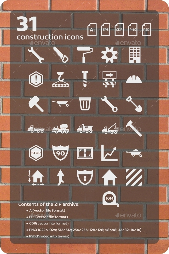 GraphicRiver 31 Construction Icons 9451734