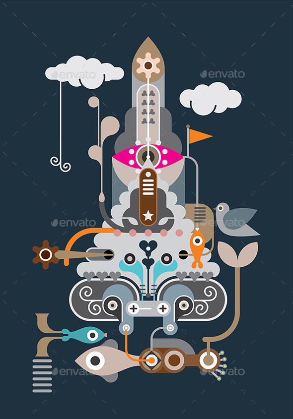 GraphicRiver The Rocket 9451738