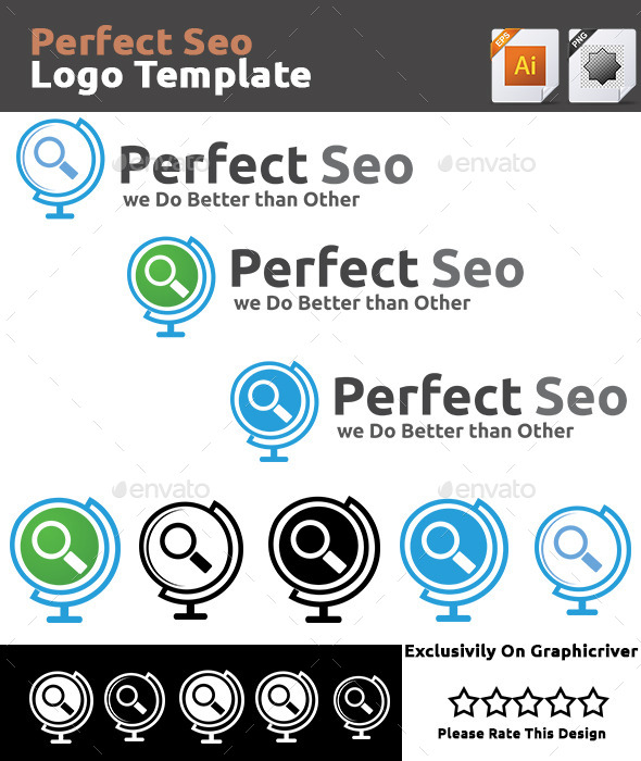 GraphicRiver Perfect Seo Logo Template 9451785