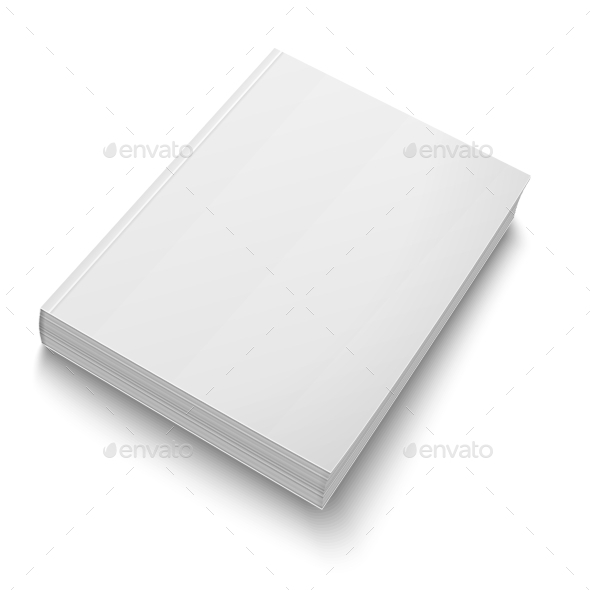 GraphicRiver Blank Softcover Book Template on White 9451800