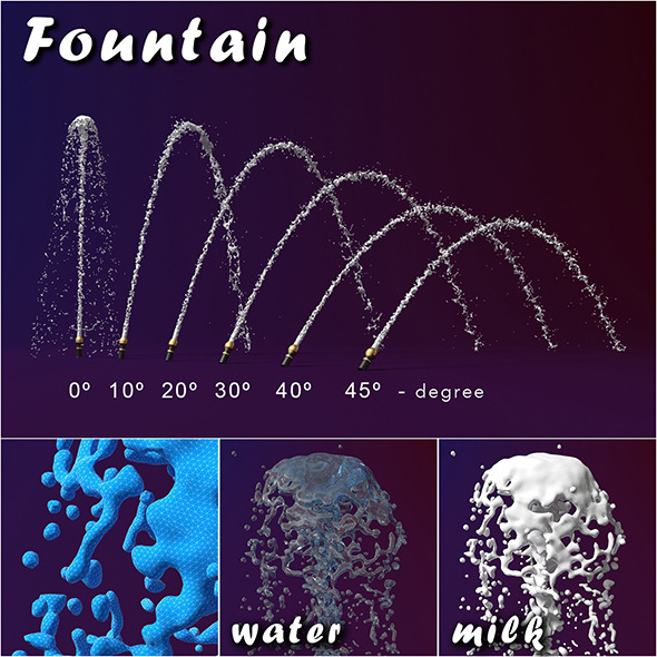 3DOcean Fountain splash 9451803