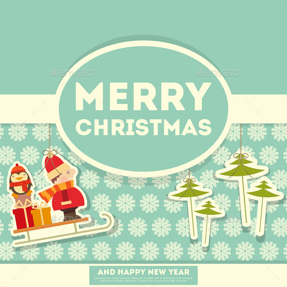 GraphicRiver Merry Christmas Greeting Card 9452330