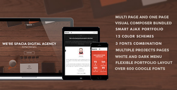 Spacia is a powerful and original responsive & parallax Wordpress Theme An eye for a detail makes its design perfect to meet needs of creative people and d