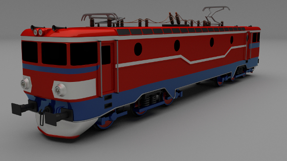 Electric Locomotive - 3DOcean Item for Sale