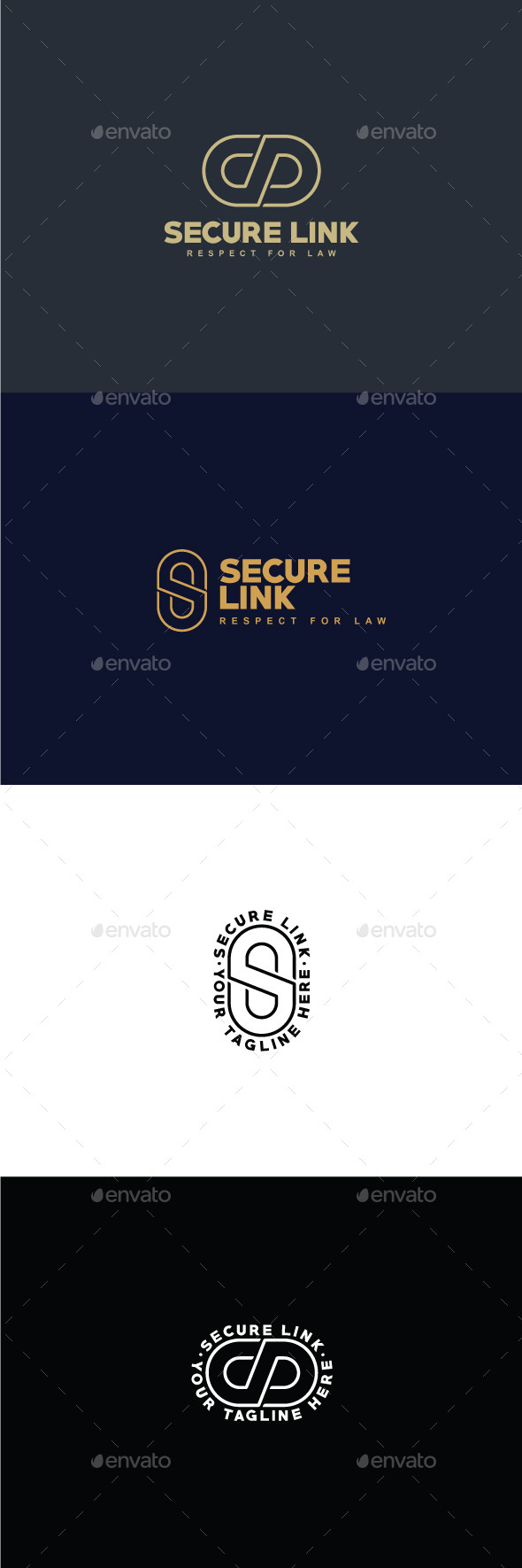 GraphicRiver Secure Link Logo Template 9375415