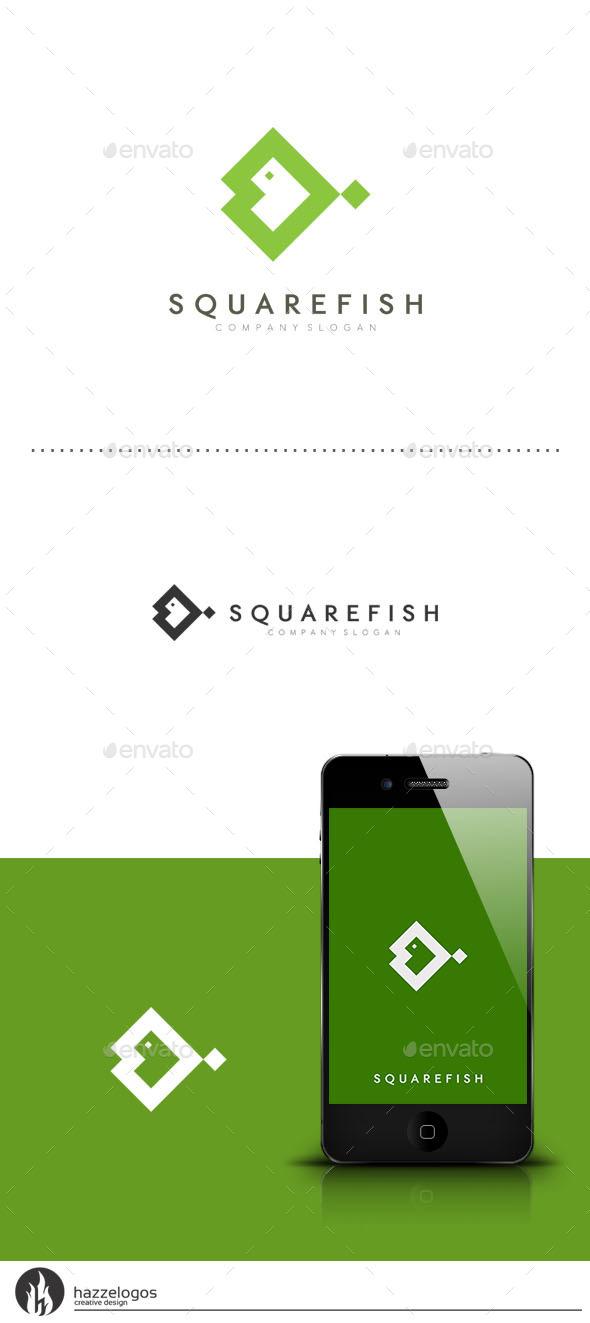 GraphicRiver Square Fish Logo 9453220