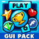 Mobile games GUI Pack-1  Blue theme - GraphicRiver Item for Sale