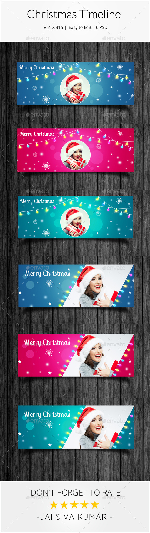 GraphicRiver Christmas Facebook Timeline 9453340