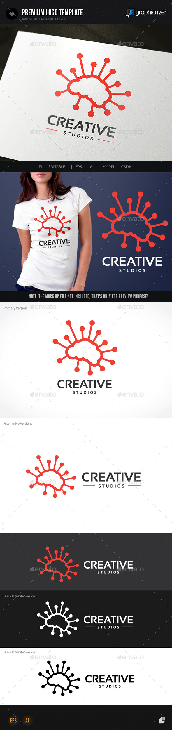 GraphicRiver Brain Creative 9453686