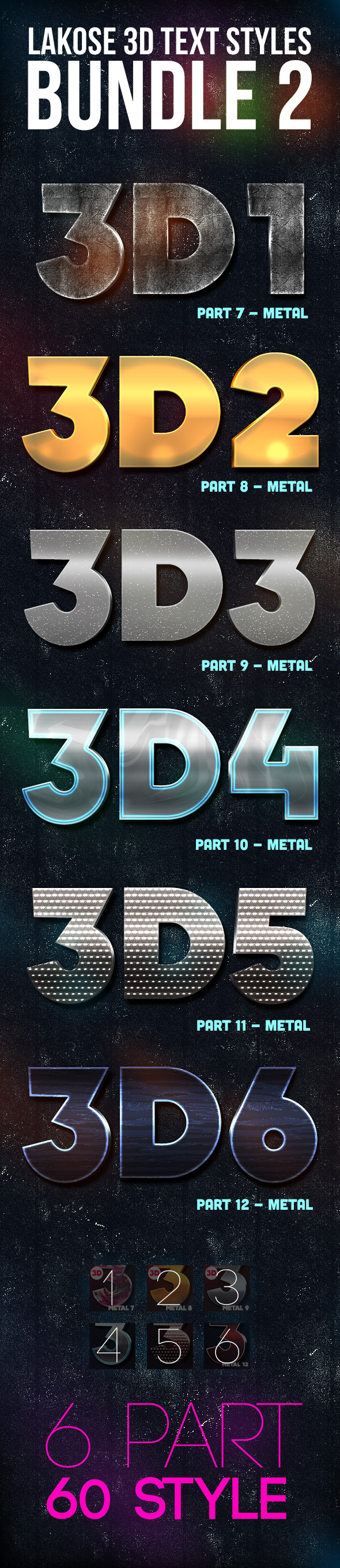 GraphicRiver Lakose 3D Text Styles Bundle 2 9453735