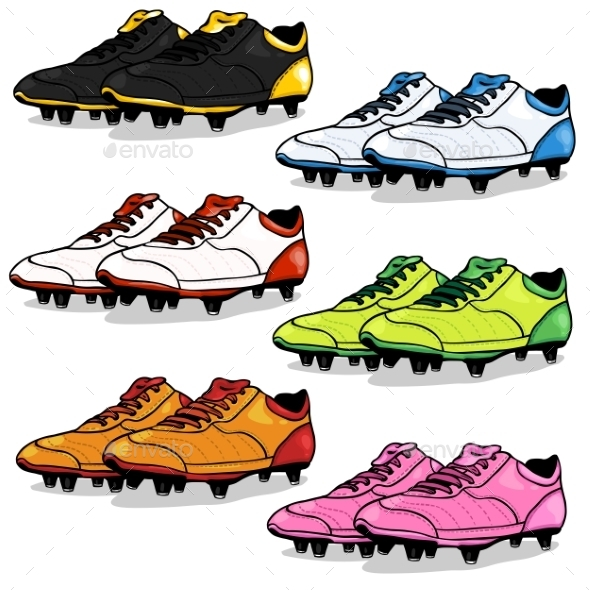 GraphicRiver Set of Cartoon Soccer Boots 9453760