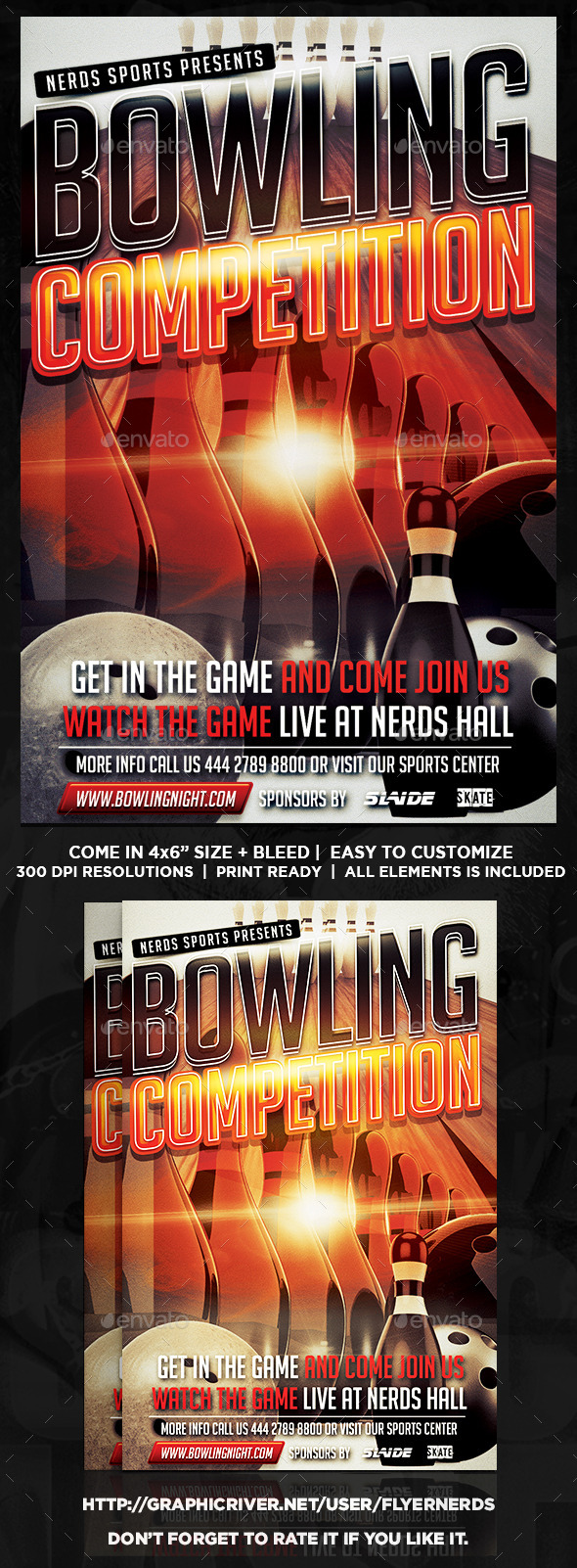 GraphicRiver Bowling Competition Flyer 9453804