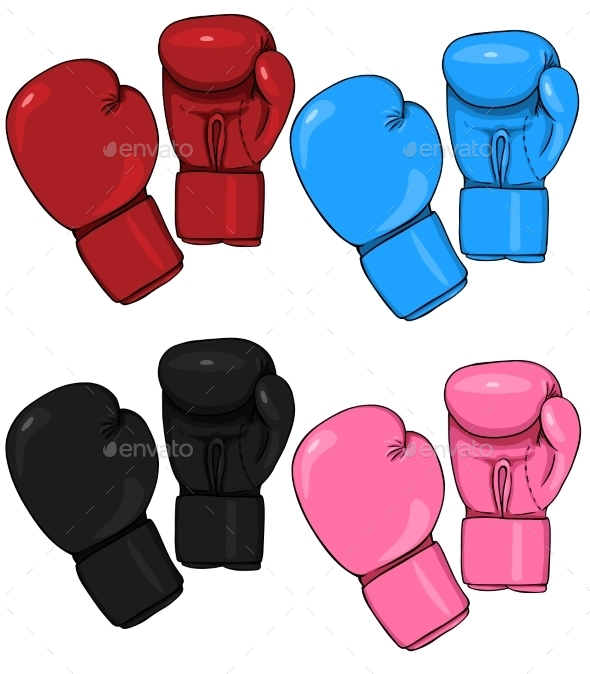GraphicRiver Set of Cartoon Boxing Gloves 9454062