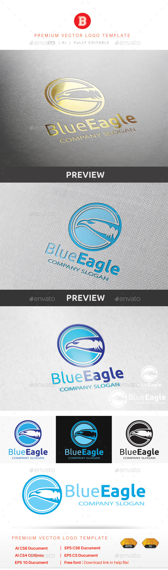 GraphicRiver Blue Eagle 9454065
