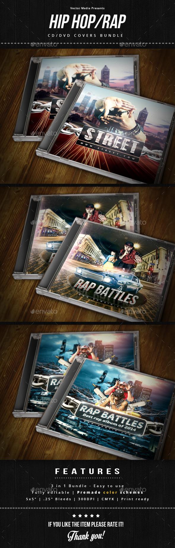 GraphicRiver Hip Hop Rap Cd Covers Bundle 9454140