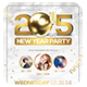 Elegant New Year Party Flyer + Instapromo - GraphicRiver Item for Sale