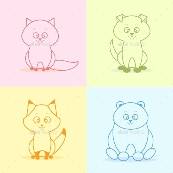 GraphicRiver Animals Flat Set 9454328