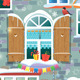 Seamless Pattern with Decorative Windows - GraphicRiver Item for Sale