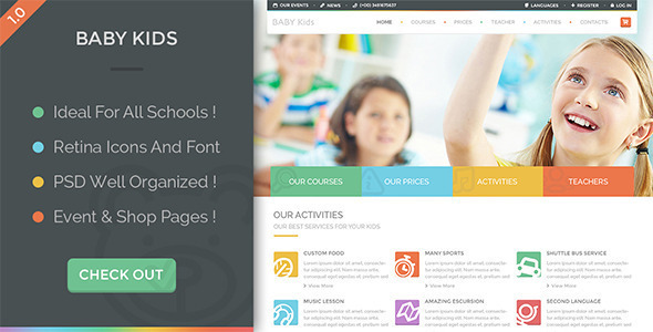 ThemeForest Baby Kids Education Primary School For Children 9409137