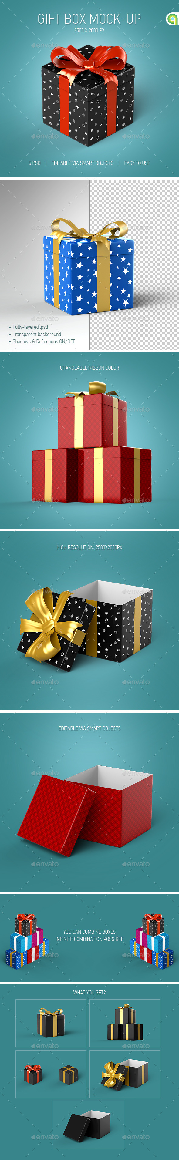 Gift Box Mock-Up