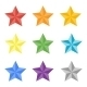 Collection of Multicolored Stars - GraphicRiver Item for Sale