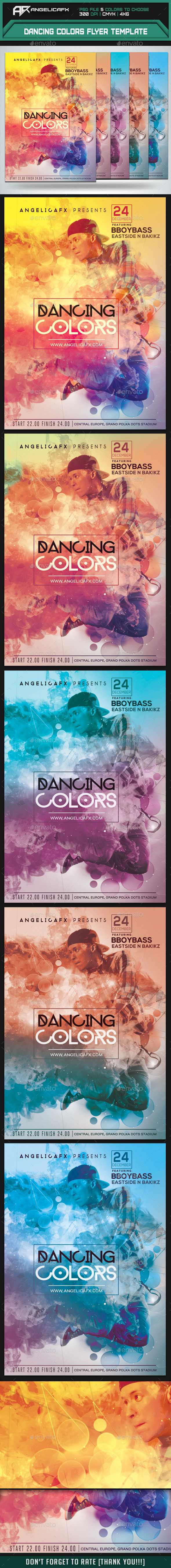 GraphicRiver Dancing Colors Flyer Template 9427076