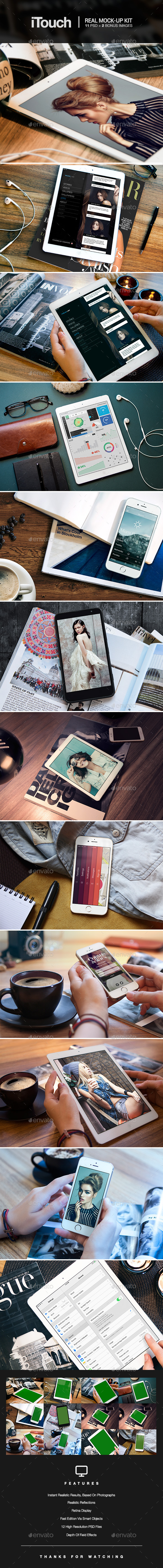 GraphicRiver iTouch 12 Photorealistic MockUp 9380424