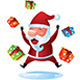 Santa Jumping with Gift Boxes - GraphicRiver Item for Sale