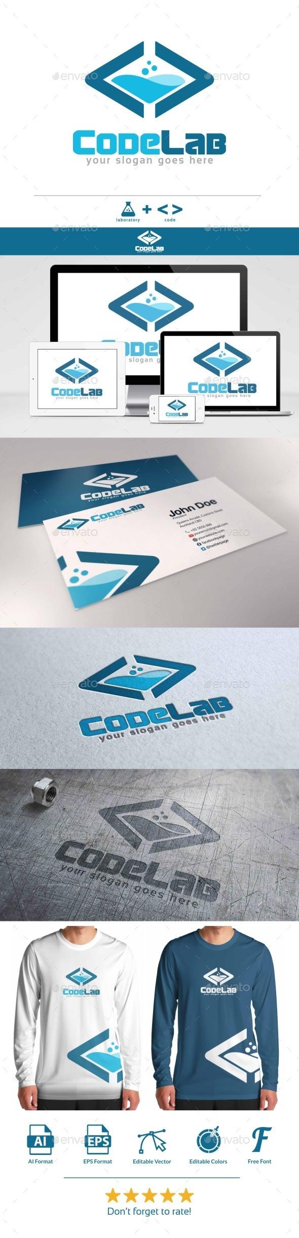GraphicRiver Code Lab Logo 9455281