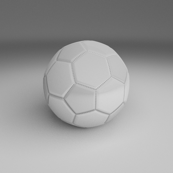 3DOcean High Quality White Football 9455294