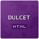 Dulcet Admin - HTML5 & CSS3 Back-end Template - ThemeForest Item for Sale