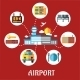 Airport and Flight Service Flat Concept - GraphicRiver Item for Sale
