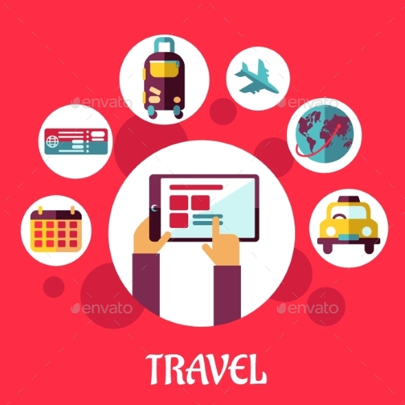 GraphicRiver Travel Flat Concept 9455534