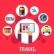 Travel Flat Concept - GraphicRiver Item for Sale