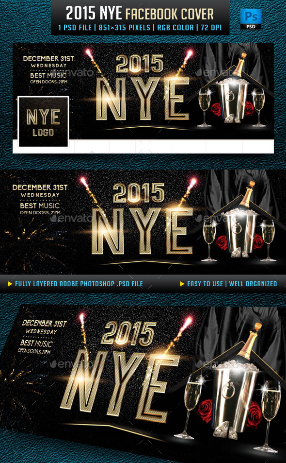 GraphicRiver 2015 NYE Facebook Cover 9455629