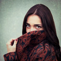 Portrait of young sensual brunette girl outdoors - PhotoDune Item for Sale